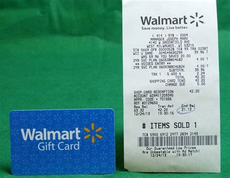 Walmart Gift Card Number - 21 12 walmart gift card with receipt free shipping ebay