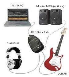 Paket Efek Gitar Android Pc Usb Guitar Link Usb Otg Converter Terlar sejarah musik alat musik efek gitar aliran