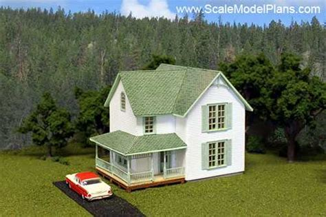 scale model house plans structure plans for all popular model railroad scales