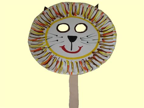 Mask Craft Paper Plate - medley