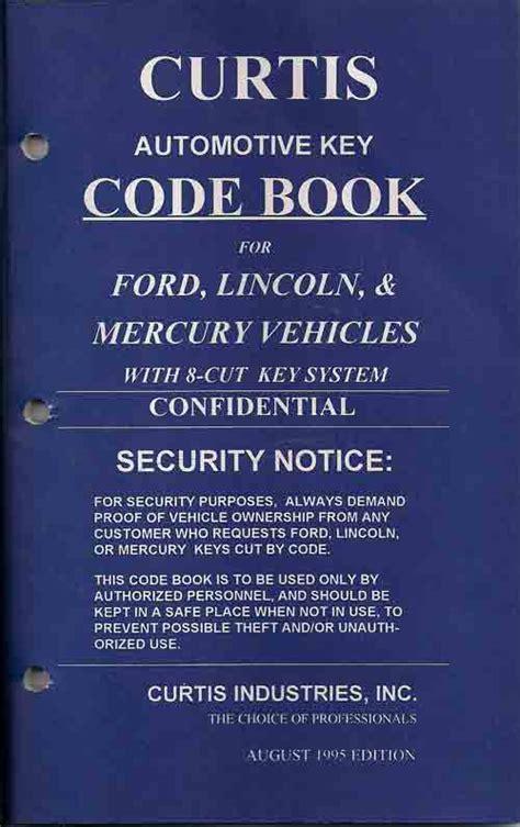hawley lock supply curtis code books hawley lock supply curtis 1995 ford 8 cut h75 code book used