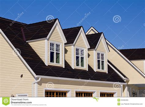 houses with dormer windows house with three dormer windows stock photo image 23490460