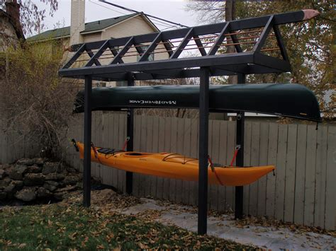 how to build a boat storage rack my quirky canoe kayak storage rack my kayaking buddies