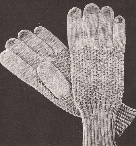 vintage glove pattern vintage men s gloves textured design knitting pattern