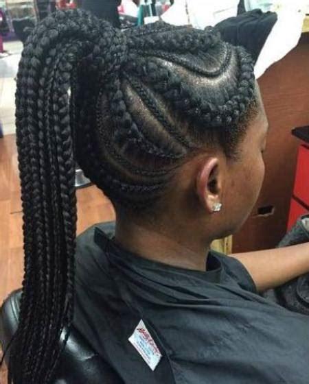 braided french roll for black women fancy french braids for black women