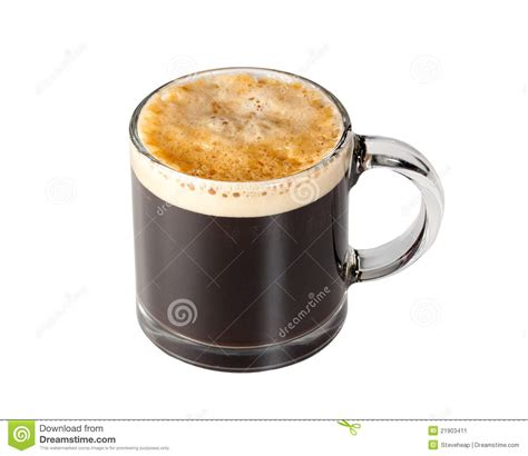 mug verre design expresso coffee in glass cup stock image image 21903411