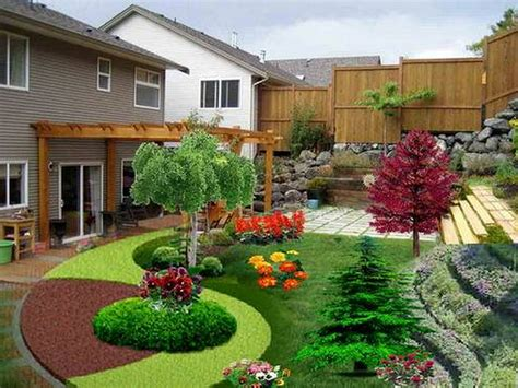 design backyard landscape decoration garden ideas cool flower garden landscape