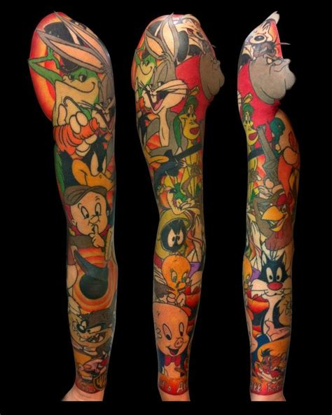 cartoon tattoo sleeve beautiful sleeve huntington s