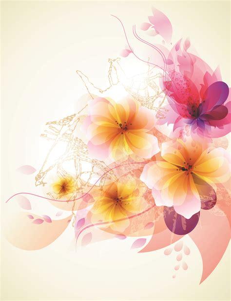 flower wallpaper vector free download romantic flower background 02 vector free vector 4vector