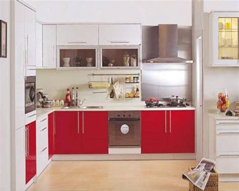 red kitchen cabinet ikea lacquer kitchen decosee com