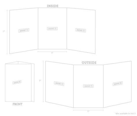 Tri Fold Cards Tri Fold Invitations Purpletrail 5x7 Tri Fold Template
