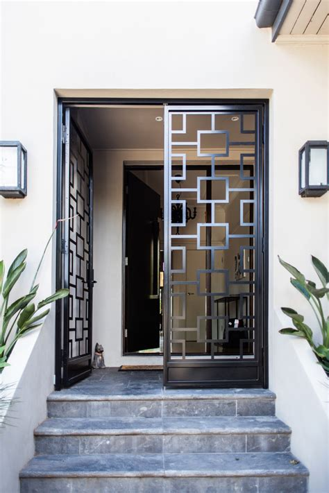 metal front doors for homes security with a home security systems