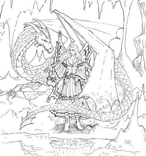 coloring pages dragons and fairies fairy dragon and both adult coloring pages coloring pages
