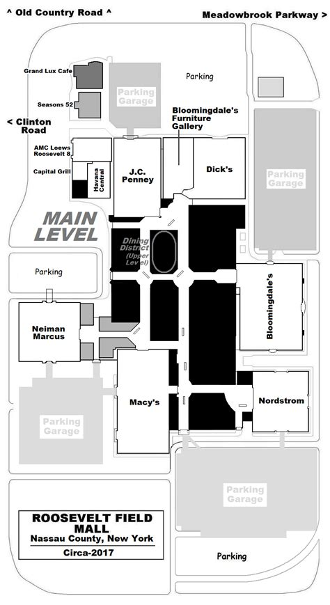 layout of roosevelt field mall mall hall of fame december 2007