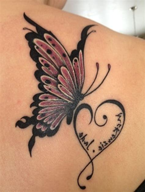 butterfly and heart tattoos butterfly and designs fantastic