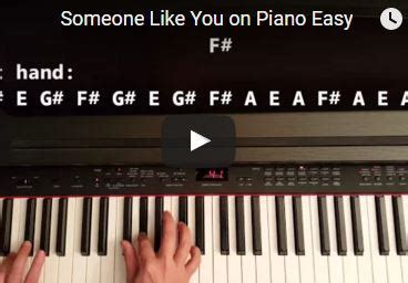 tutorial piano someone like you easy piano songs piano tutorials and lessons for beginners