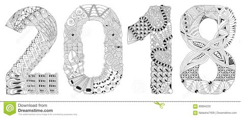 solidworks 2018 black book colored books number 2018 zentangle vector decorative object stock
