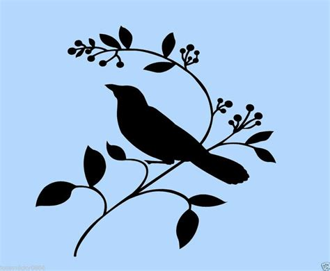 printable stencils bird printable bird on branch stencil