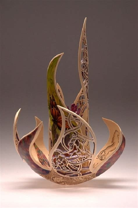joey richardson delicate wood carving art kaleidoscope