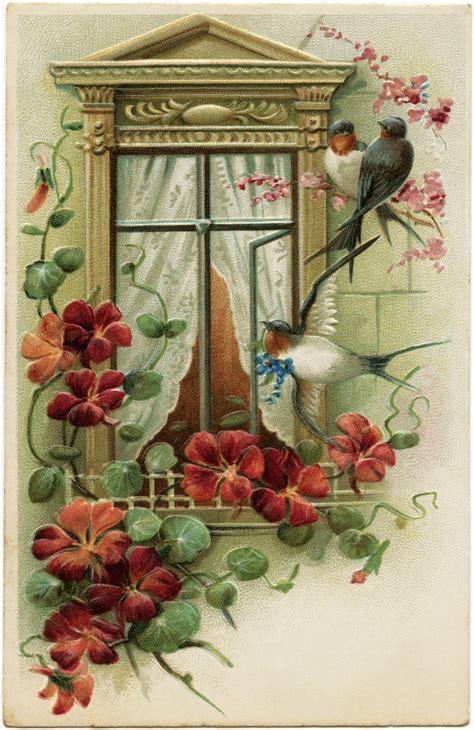 vintage images free flowers and birds free vintage image design shop