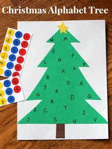 christmas alphabet sticker tree learning letters