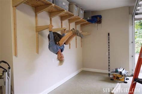 building garage shelves cantilevered shelf brackets