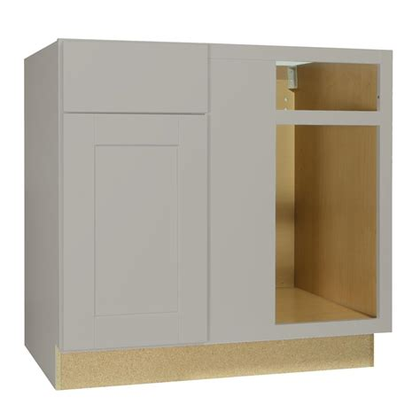 hton bay shaker cabinets hton bay shaker assembled 36x34 5x24 in blind base corner kitchen cabinet in dove gray