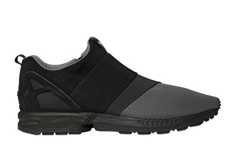 Adidas Slip On Suede adidas zx flux slip on suede mesh black