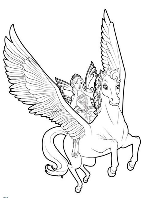 fairy unicorn coloring page unicorn coloring pages flying with fairy unicorn