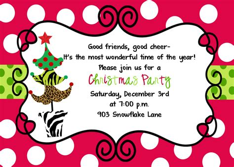 annual christmas party invitations all invitations ideas