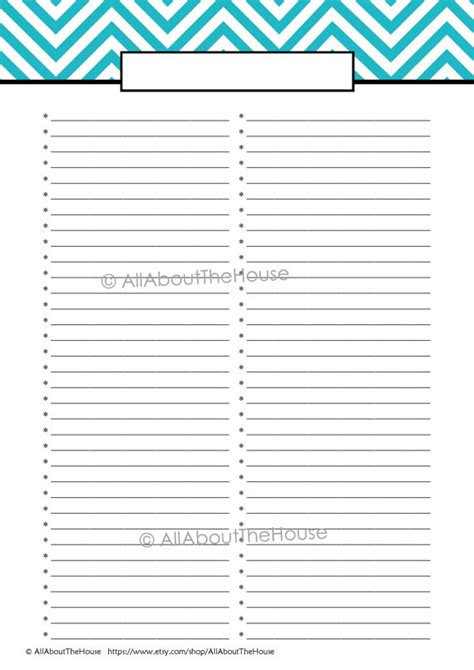 etsy printable to do list editable printable to do list printable by allaboutthehouse