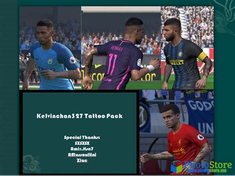 tattoo pack pes 2018 pes 17 tattoo pack by kelvinchan327 edy patch pes