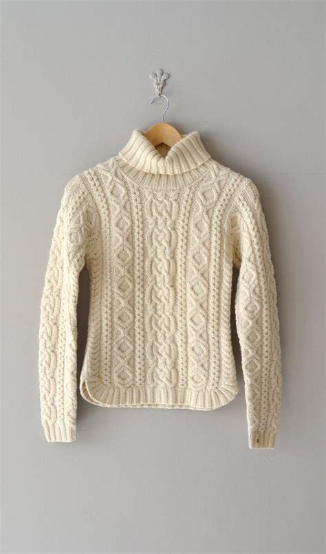 cable knit sweater pattern vintage fishermans sweater skillful stitching