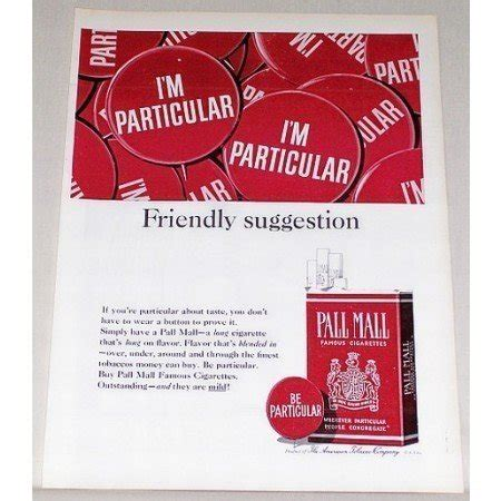 pall mall colors 1964 pall mall cigarettes color tobacco print ad be