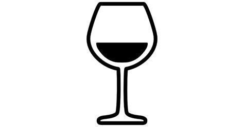 chagne glass svg glass with wine free food icons