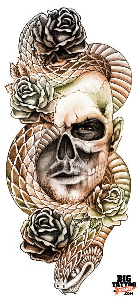 skull and snake tattoo robinson flash big planet