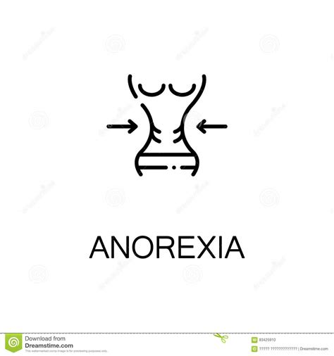 anorexia flat icon or logo for web design stock vector