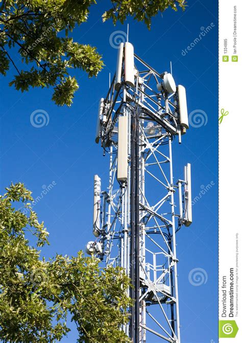 cell phone antenna tower stock image image  umts mobile