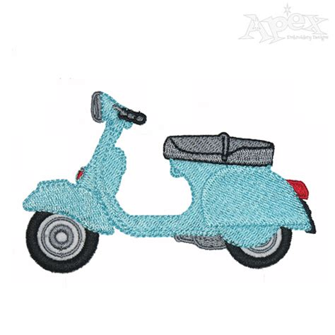 design vespa vespa embroidery design