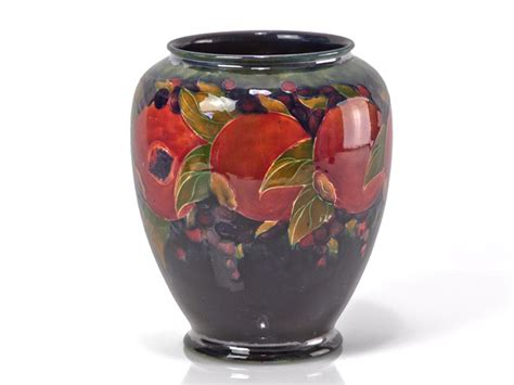 william moorcroft c1916 pomegranate vase ebay