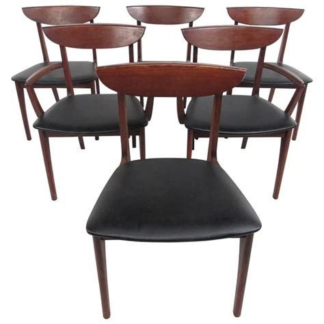 Century Furniture Dining Chairs Six Mid Century Modern Walnut Dining Chairs For Sale At 1stdibs
