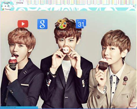 theme google chrome luhan exo exo cupcakes chrome theme themebeta