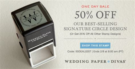 Wedding Paper Divas Deals by 50 Coupon Code For Signature Circle