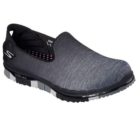 Skechers Go Flex Walk Muse S Sneakers Abu Abu skechers 14018 bkgy s go flex walk muse walking