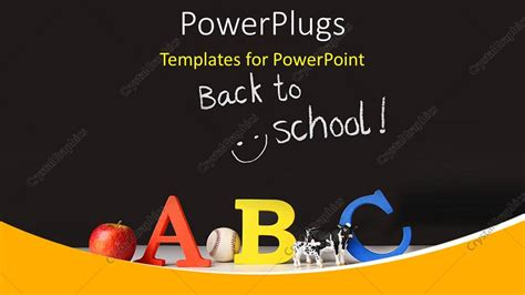 Elementary Powerpoint Templates powerpoint template elementary concept of abc on a black