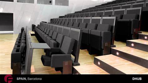 butacas asientos  sillas  salas de conferencias diseno figueras youtube