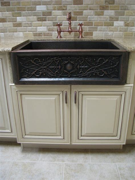 copper apron front sink apron front copper sink traditional kitchen denver