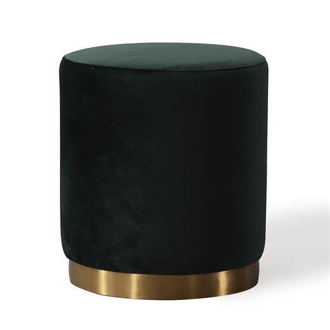 black round ottoman black round velvet ottoman gold metal base