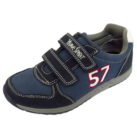 boys childrens blue casual sports trainers shoes