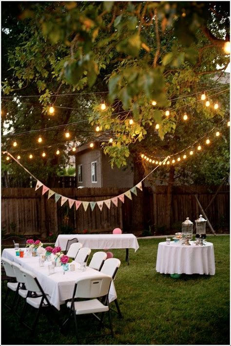 backyard party ideas  adults bbq party decorations
